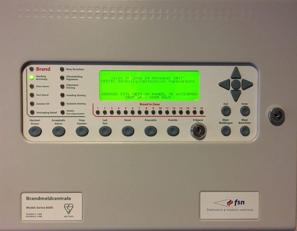 Beheerder brandmeldinstallatie zorgt voor het onderhoud en maandelijkse controle van de brandmeldinstallatie.